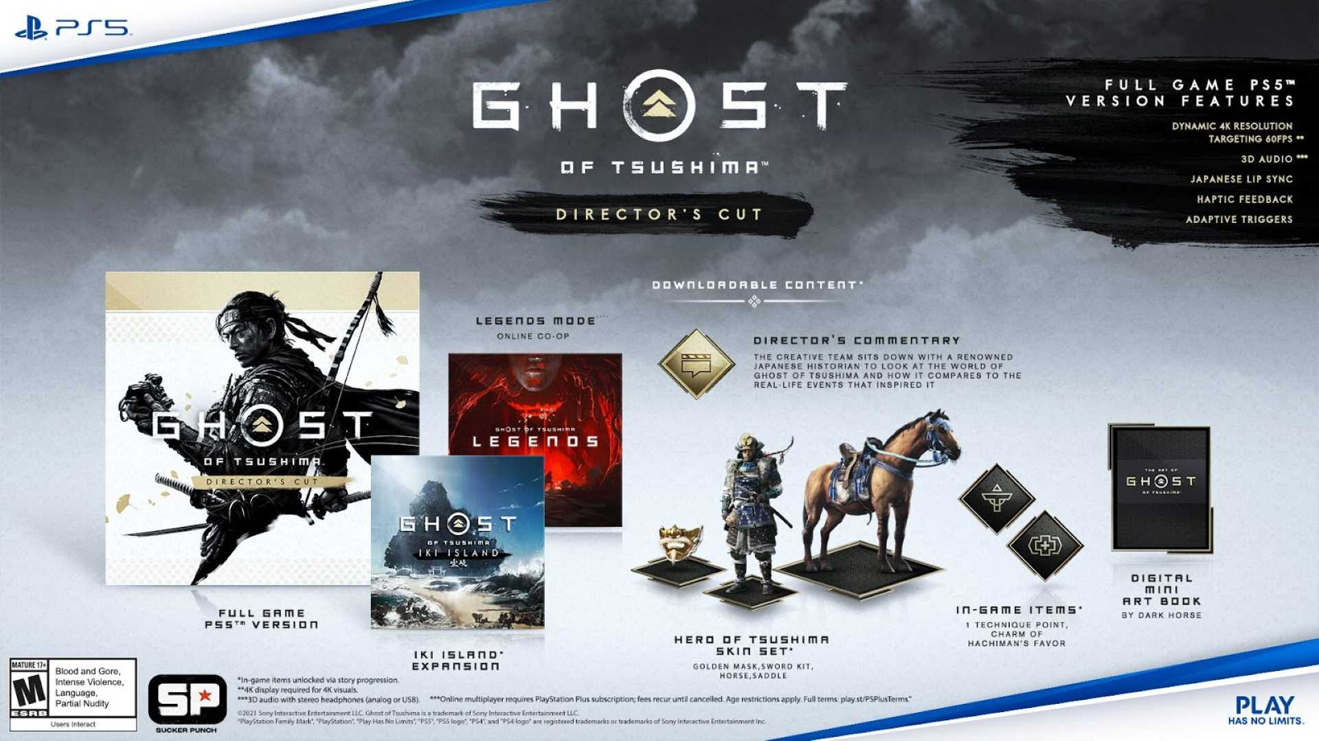 Ghost of Tsushima Director's Cut - Inhalte