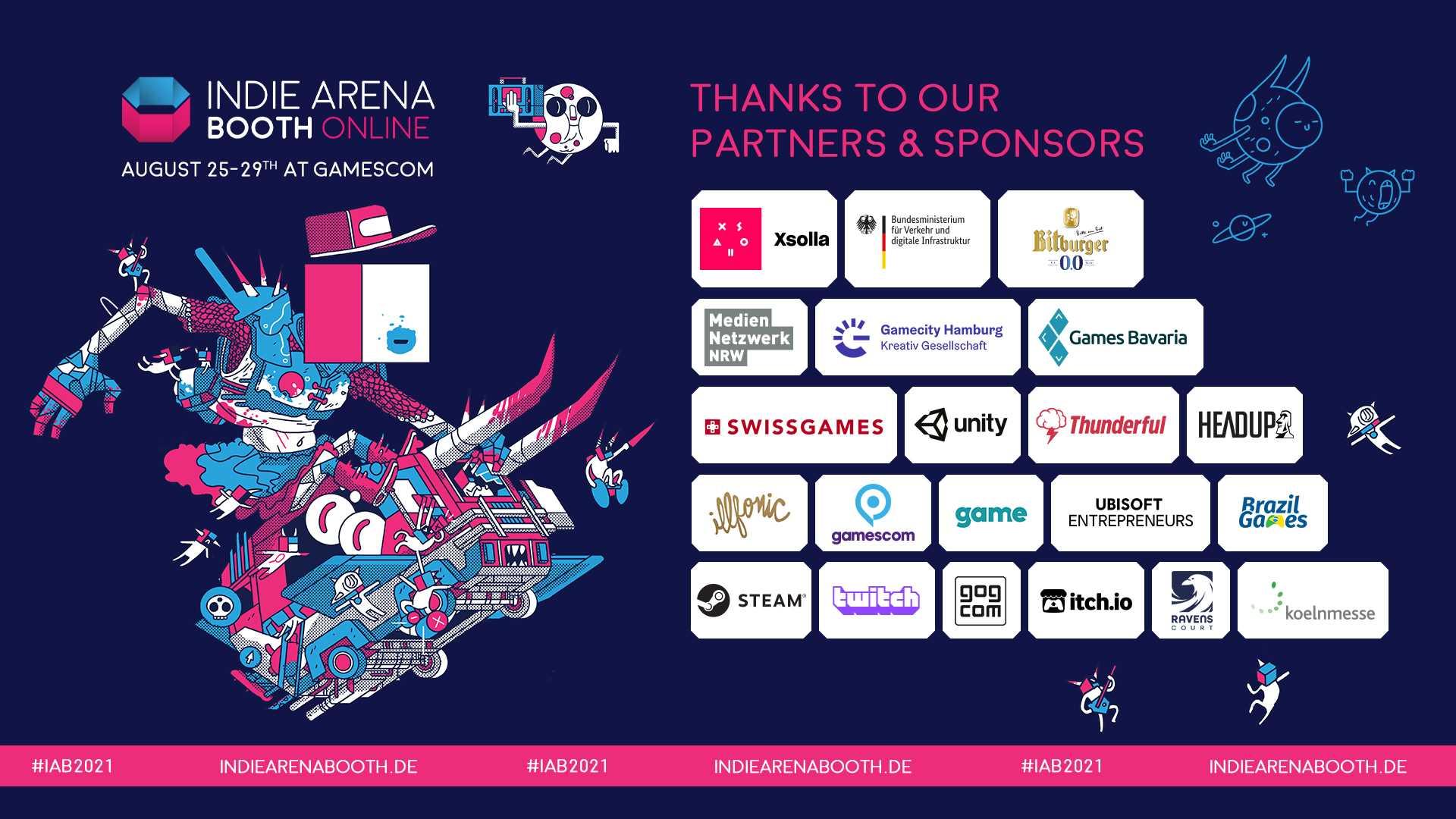 gamescom Indie Arena Booth - Partner und Sponsoren