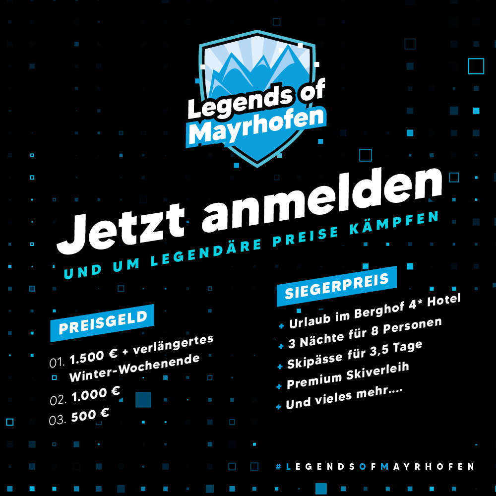 Legends of Mayrhofen - Jetzt anmelden