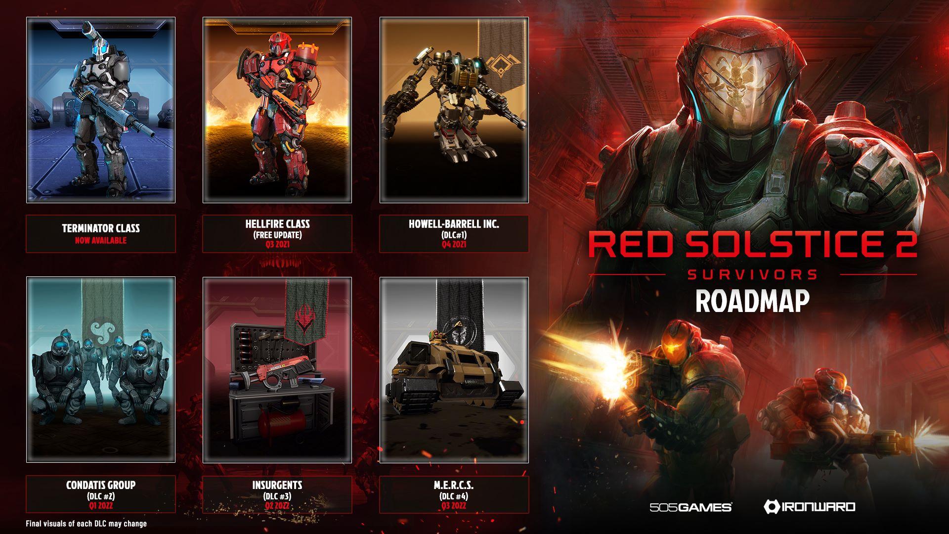 Red Solstice 2: Survivors Terminator - Roadmap