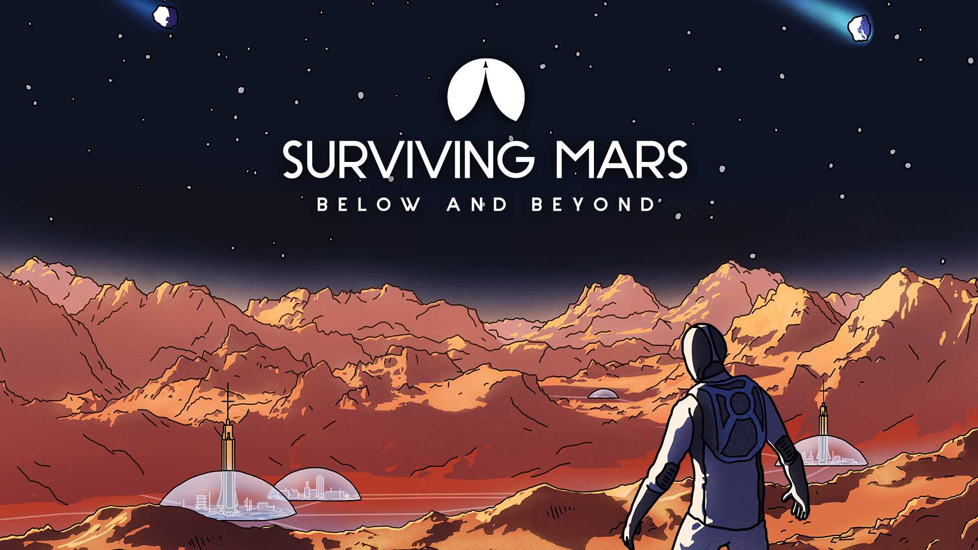 Surviving Mars: Below & Beyond - Key Art